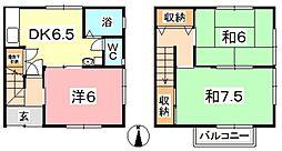 [テラスハウス] 岡山県倉敷市西中新田 の賃貸【/】の間取り