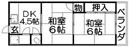 中野コーポ[2階]の間取り