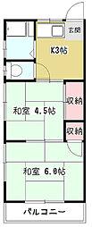 武蔵野コーポ[1階]の間取り
