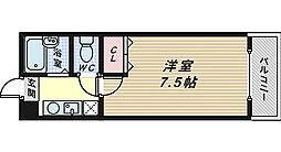ヴォーヌング三国ヶ丘[3階]の間取り