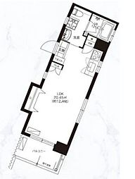 福岡市地下鉄空港線 天神駅 徒歩9分の賃貸マンション 5階ワンルームの間取り