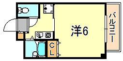 JR東海道・山陽本線 舞子駅 バス14分 星陵台1丁目下車 徒歩2分の賃貸マンション 2階1Kの間取り