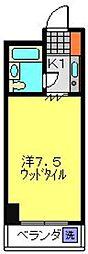 パークヒルズ横浜[302号室]の間取り