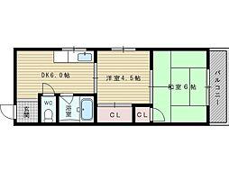 矢森第3マンション[2階]の間取り