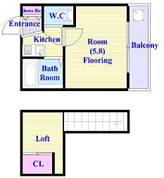 ヨーロピアン22番館[1階]の間取り