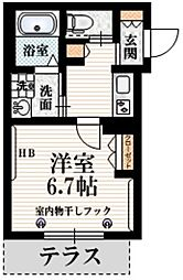 JR総武線 信濃町駅 徒歩7分の賃貸マンション 1階1Kの間取り