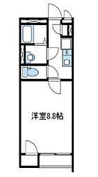 神奈川県座間市緑ケ丘2丁目の賃貸アパートの間取り