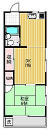 荻野コーポ[2階]の間取り