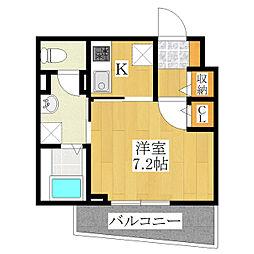 シャ レコルテ[3階]の間取り