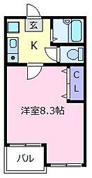 大阪府松原市上田4丁目の賃貸マンションの間取り