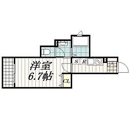 シャルマン稲毛東[201号室]の間取り