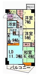 グローリオ中野新江古田[5階]の間取り