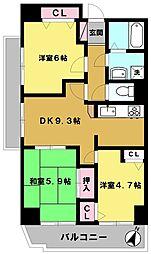 ISサンハウス[302号室]の間取り