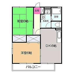 シャルム鎌倉[2階]の間取り