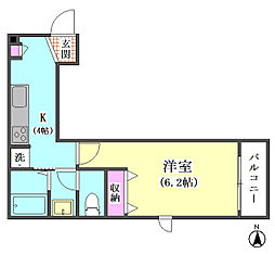 JR京浜東北・根岸線 蒲田駅 徒歩7分の賃貸マンション 3階1Kの間取り