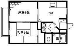 メゾンテヅカA[2階]の間取り
