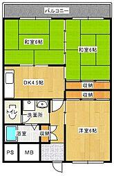 フィールド南福岡[208号室]の間取り