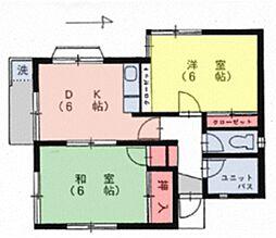 カメリアハウスB[2階]の間取り