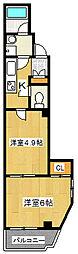 ボナール町屋[4階]の間取り