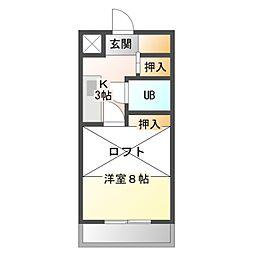 ウェーブ28[1階]の間取り