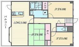 アンピール箱崎東[509号室]の間取り