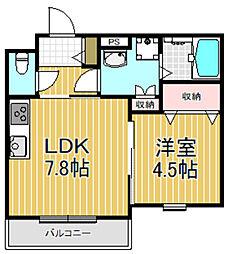 クリエオーレ三ノ瀬II[2階]の間取り