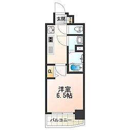 近鉄南大阪線 河堀口駅 徒歩2分の賃貸マンション 9階1Kの間取り