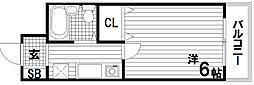 ロイヤル魚住[2階]の間取り