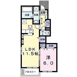 JR東海道本線 豊橋駅 バス21分 牛川下車 徒歩2分の賃貸アパート 1階1LDKの間取り