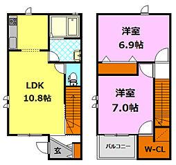 [テラスハウス] 茨城県筑西市菅谷 の賃貸【/】の間取り
