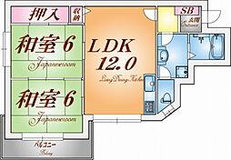 コーポ米田[2階]の間取り