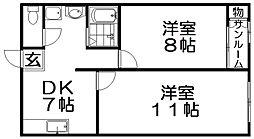 池田グランドコーポ[2階]の間取り