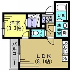 Townhouse V 3階1LDKの間取り