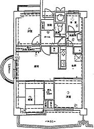 ロワールマンション海の中道[4階]の間取り