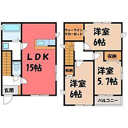 [一戸建] 栃木県宇都宮市一条3丁目 の賃貸【/】の間取り