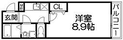 シャルム長尾[2階]の間取り