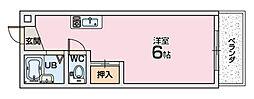 レオハイム長尾3[5階]の間取り