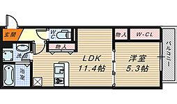 ロイヤルガーデン三国ヶ丘[3階]の間取り
