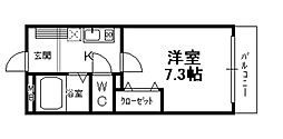 兵庫県宝塚市中筋4丁目の賃貸マンションの間取り