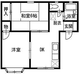 神奈川県横浜市西区西戸部町1丁目の賃貸アパートの間取り