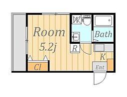 メゾンドリコ[2階]の間取り