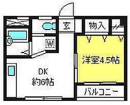 埼玉県さいたま市大宮区宮町4丁目の賃貸マンションの間取り