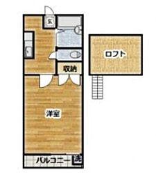 ハイツ霞ヶ関[2階]の間取り