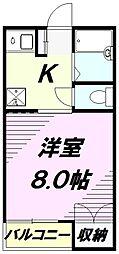 グリ−ン太田[2階]の間取り