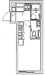 (仮称)Ludens沼袋MAXIV 2階ワンルームの間取り