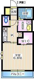 JR東海道本線 戸塚駅 徒歩5分の賃貸アパート 1階1Kの間取り