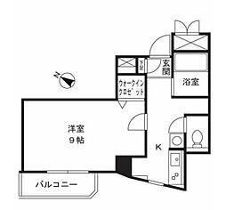 神奈川県川崎市高津区溝口2丁目の賃貸マンションの間取り