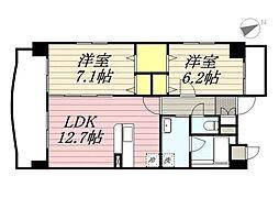 (仮称)港3丁目マンション新築工事[201号室]の間取り