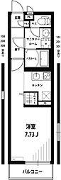 多摩都市モノレール 大塚・帝京大学駅 徒歩7分の賃貸マンション 1階1Kの間取り