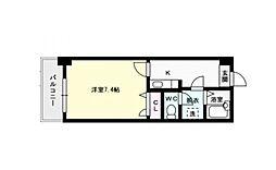 福岡県福岡市西区小戸4丁目の賃貸マンションの間取り